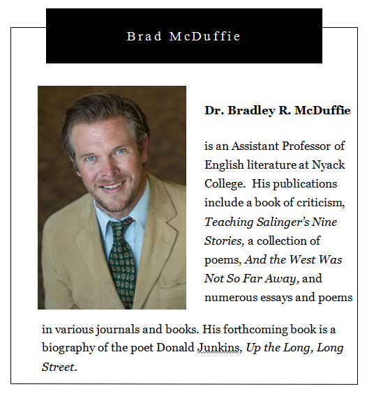 Nyack College Writing Center, Rockland Campus_Dr. Brad McDuffie's Bio