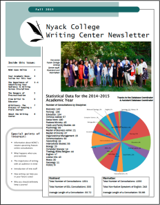 Nyack College Writing Center_fall 2015 Newsletter.png