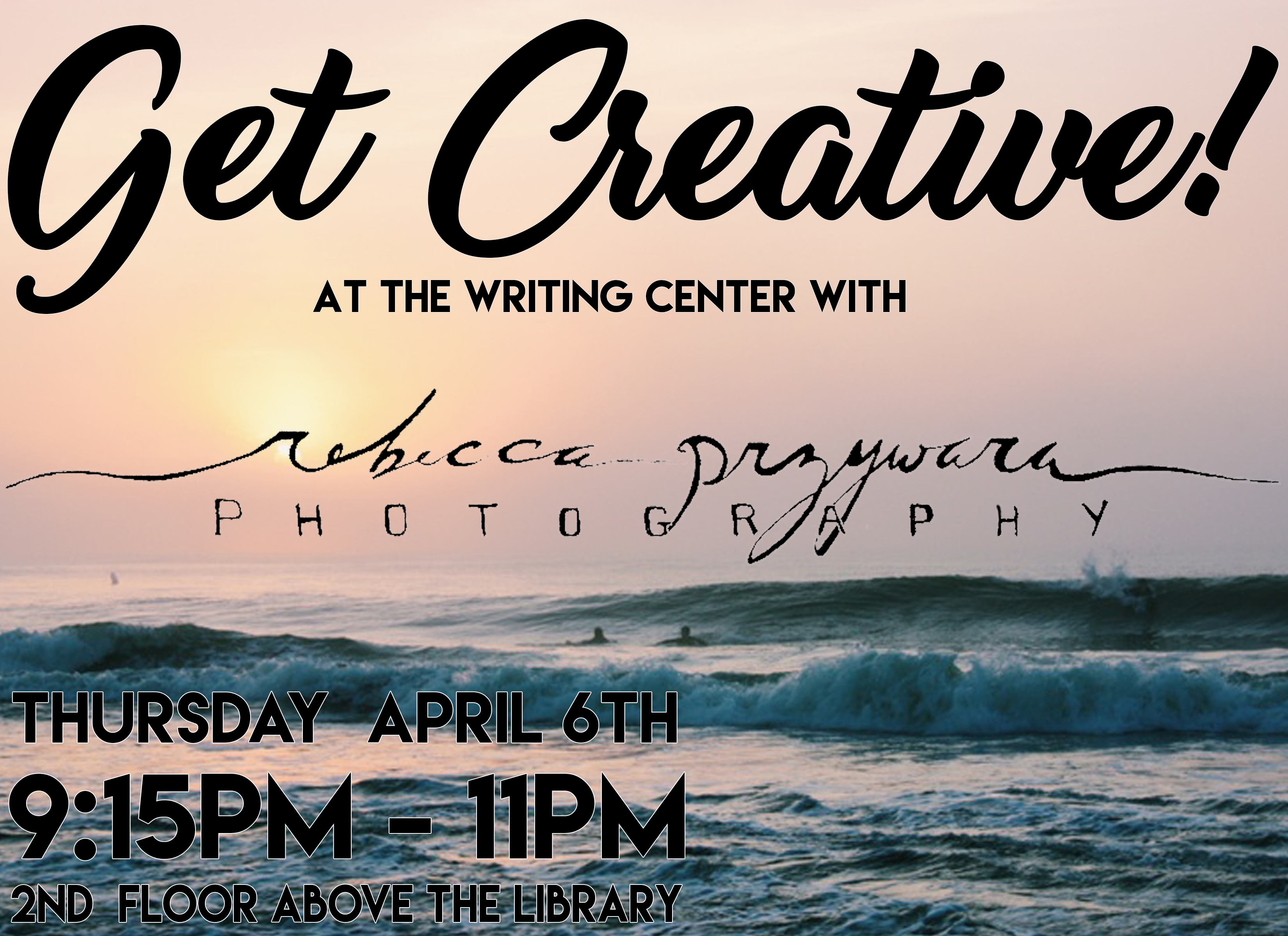 Rebecca Przywara Photography event at Nyack College Writing Center, Rockland campus, on Thursday April 6th, 2017
