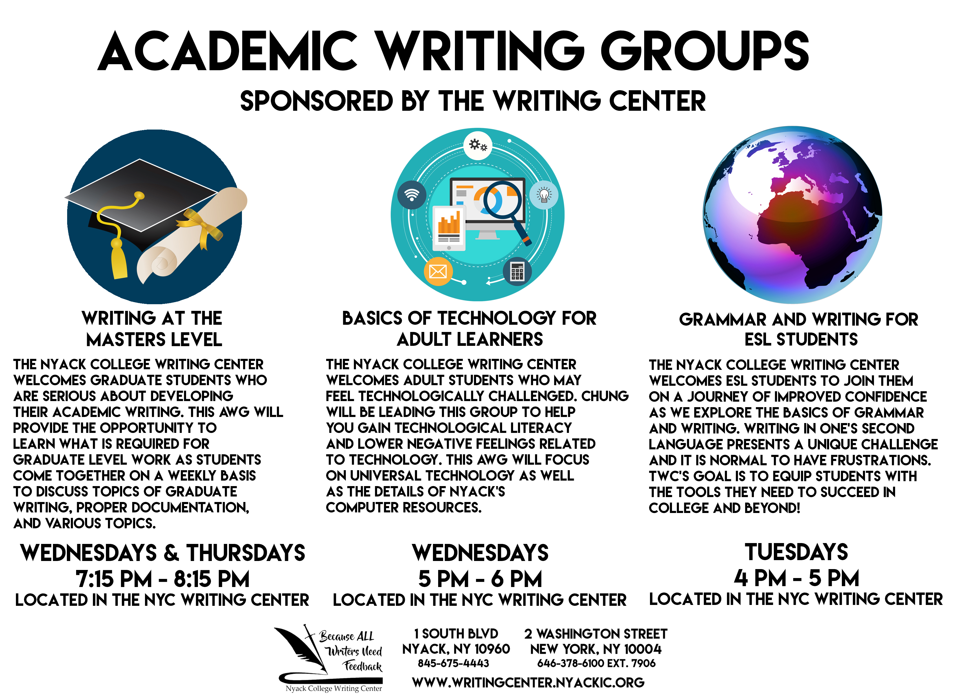 Academic Writing Groups - NYC Campus