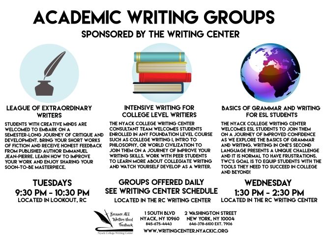 Academic Writing Groups - Rockland Campus