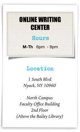 Online Writing Center Opening Hours & Location