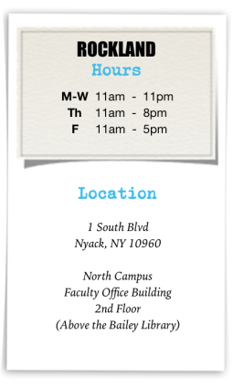 Rockland Writing Center Hours & Location