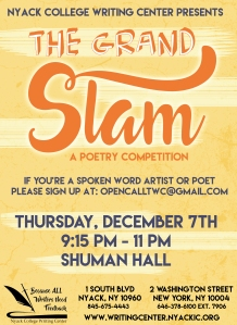 Nyack College Writing Center_Grand Slam Upcoming Event at Rockland Campus